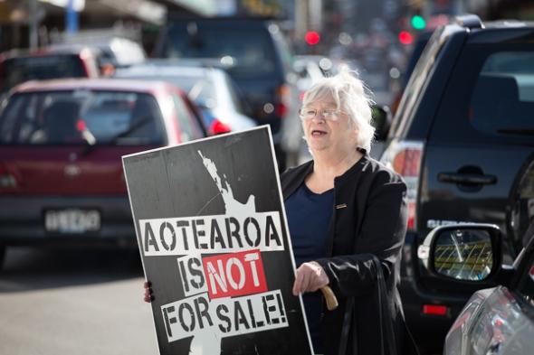 Asset Sales Protest Wellington